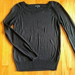Sheer Shoulder Detail Sweater